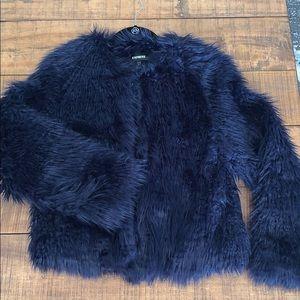 Express faux fur jacket